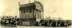Средневековая реконструкция похорон Александра Македонского.