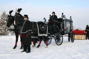 Конный катафалк Новосибирского крематория