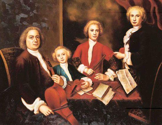 Иоганн Себастьян Бах с сыновьями