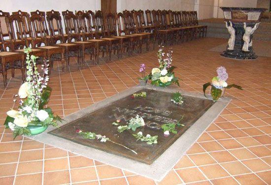Надгробная плита И.С.Баха в Лейпциге