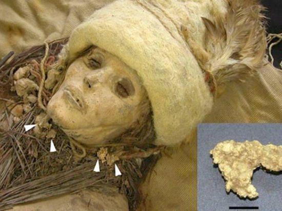 Мумия с сыром из пустыни Такла-Макан
