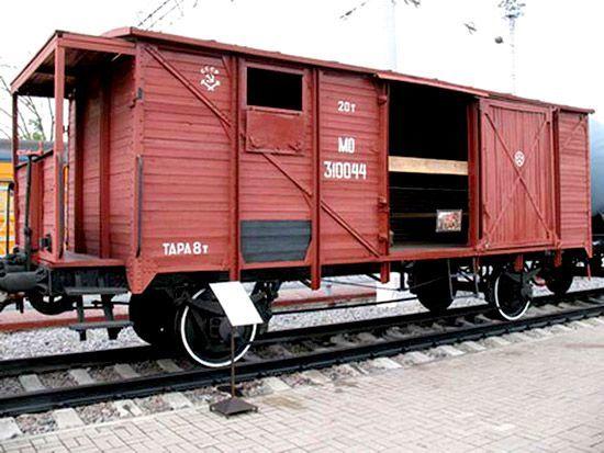 Старинный вагон-теплушка