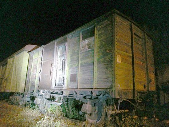 Старинная теплушка - вагон для заключенных