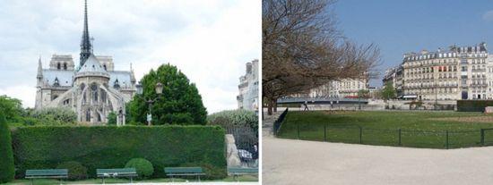Парк на месте парижского морга