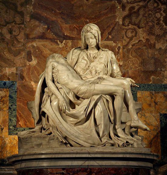 """Пьета Микеланджело """"Оплакивание Христа"""""""