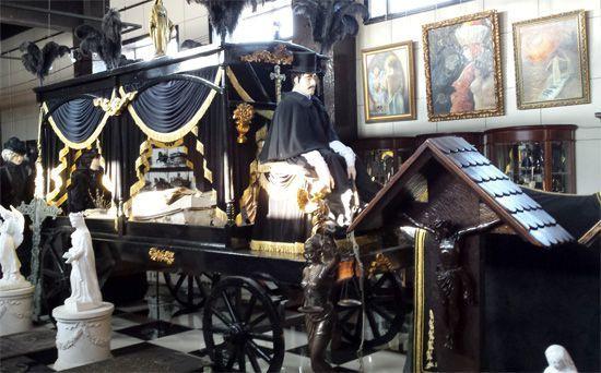 Саркофаг Горохова в Музее Погребальной Культуры