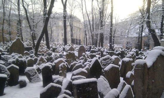 Старое Еврейское кладбище зимой