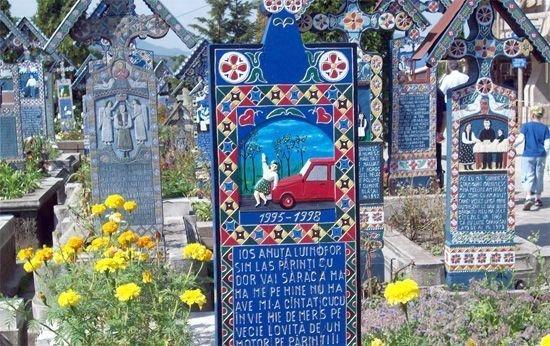 Веселое румынское кладбище