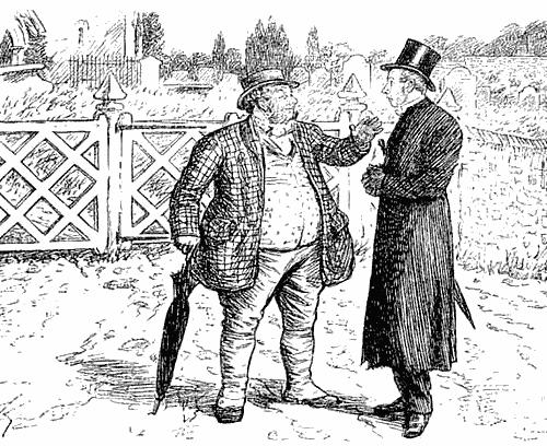 Церковный староста и священник возле кладбища