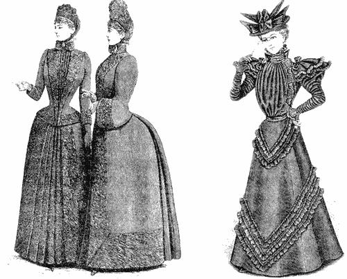 Траурные платья конца XIX века