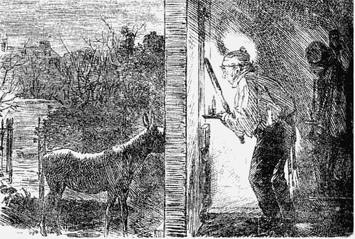 «Зловещий призрак». Карикатура из журнала «Панч»