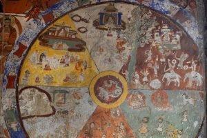 Колесо Сансары (Колесо Жизни) в буддийском монастыре Алчи.