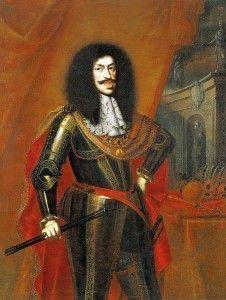 На портрете Леопольда I запечатлены фамильные признаки Габсбургов — выпяченная нижняя губа и оттопыренный подбородок
