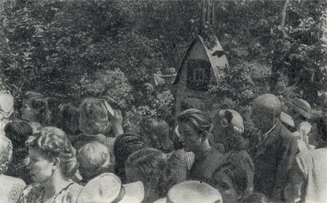 Траурное собрание у могилы А. П. Чехова, 1954