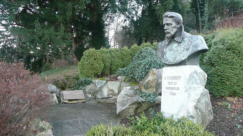 Памятник Чехову в Баденвайлере