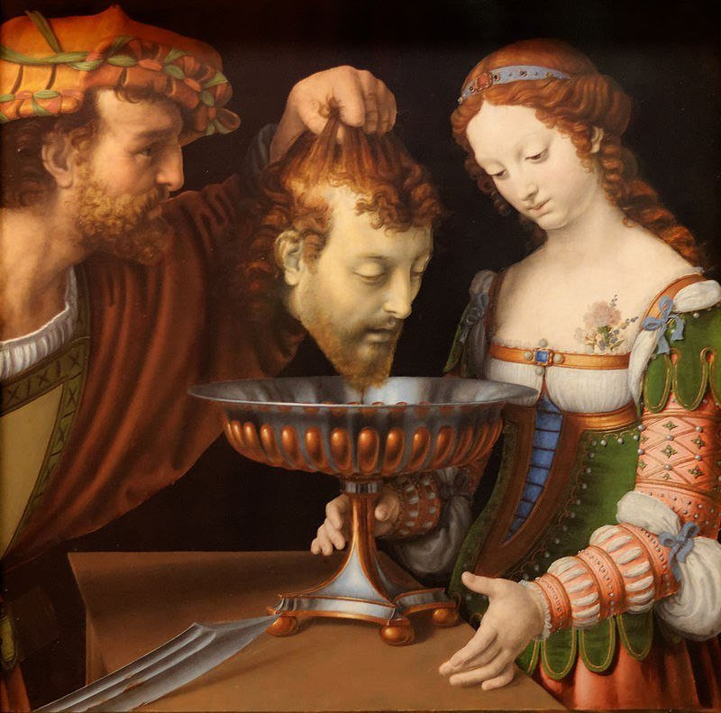 Саломея получает голову Иоанна Крестителя. Соларио, Андреа (1520—1524) Музей истории искусств, Вена
