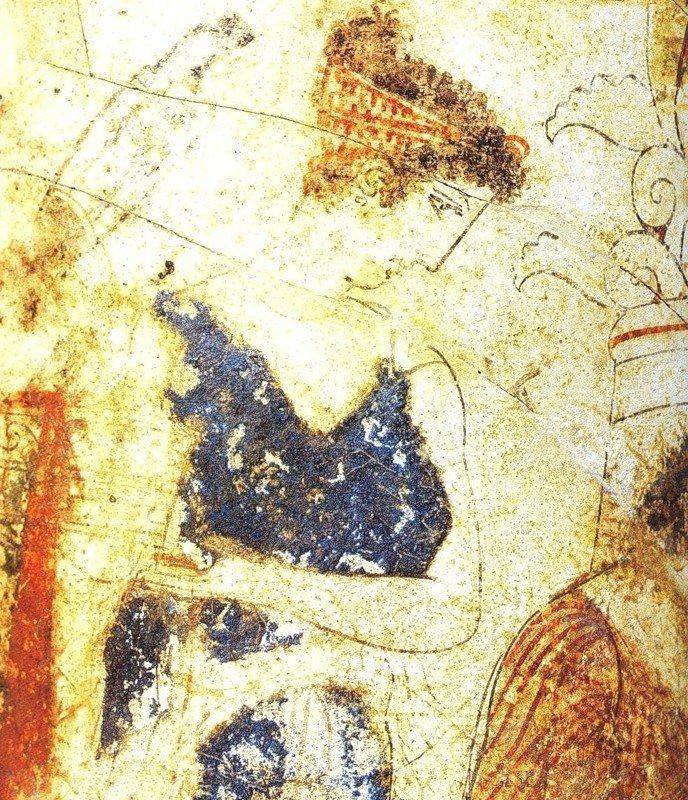 """""""Женщина-художник"""". Фрагмент фрески. 430 г. до н.э."""