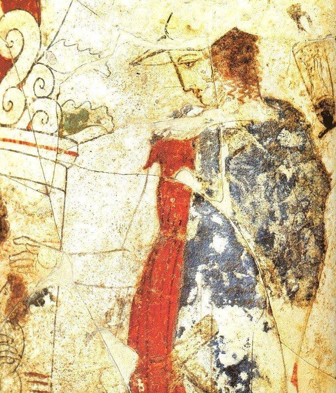 """""""Посещение гробницы"""". Фрагмент фрески. 430 г. до н.э"""