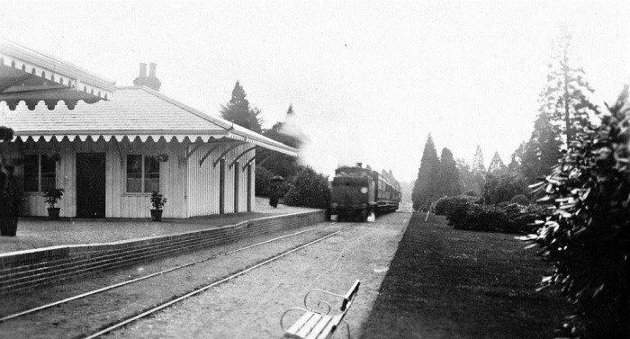 Поезд с катафалками, фото 1907 года