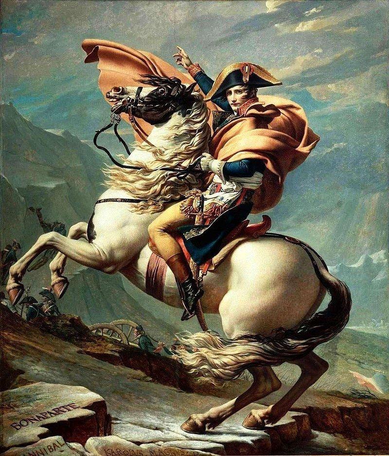«Бонапарт на Сен-Бернарском перевале» - Жак-Луи Давид 1801