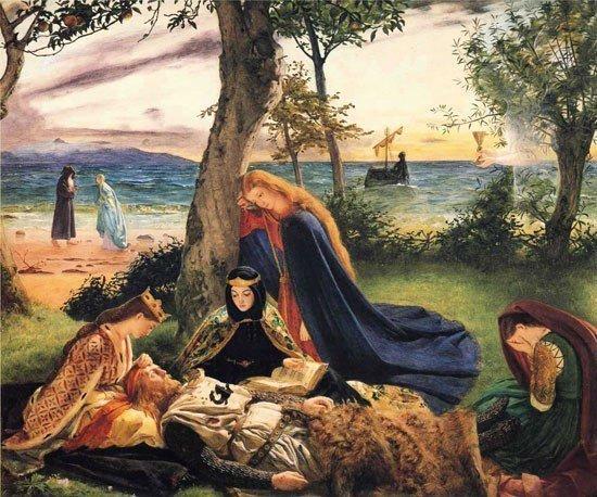 Король Артур спит на острове Авалон