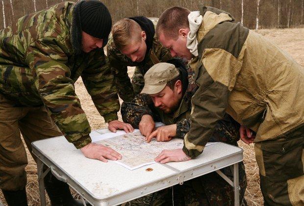 карта раскопок бойцов