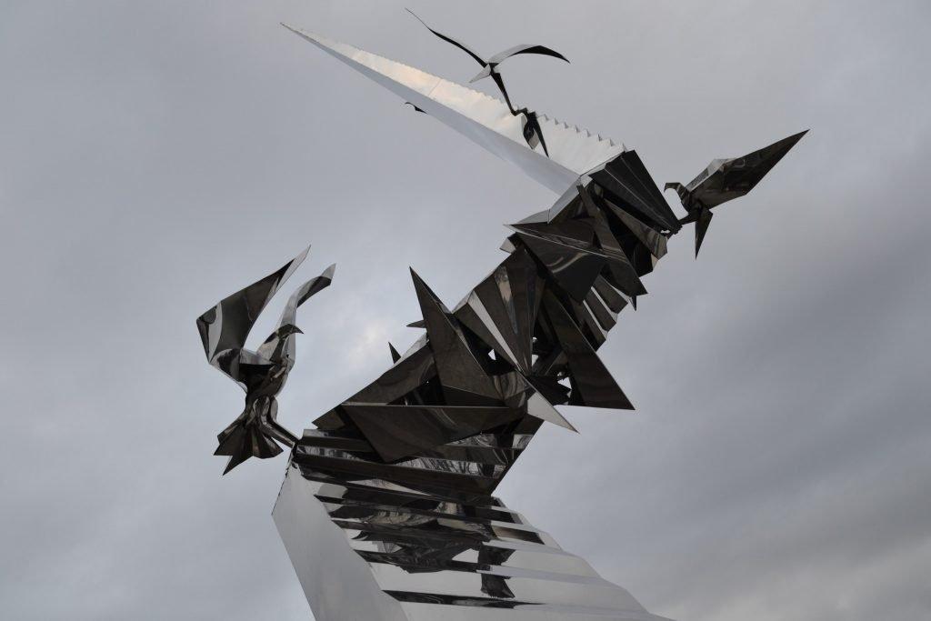 Военное время Памятник Дорога в будущее