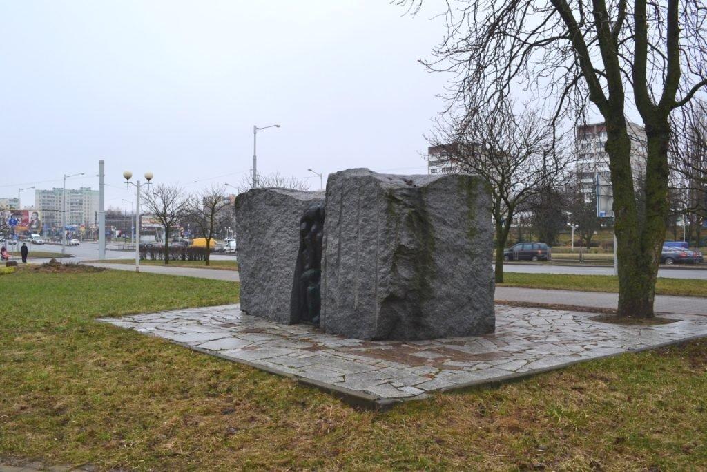 мемориал жертвам минского гетто.