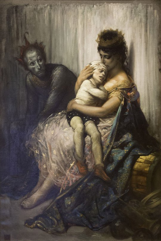 Gustave Doré La famille du saltimbanque, l'enfant blessé