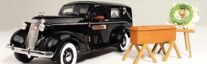 Уникальная коллекция масштабных моделей катафалков прошлого и настоящего