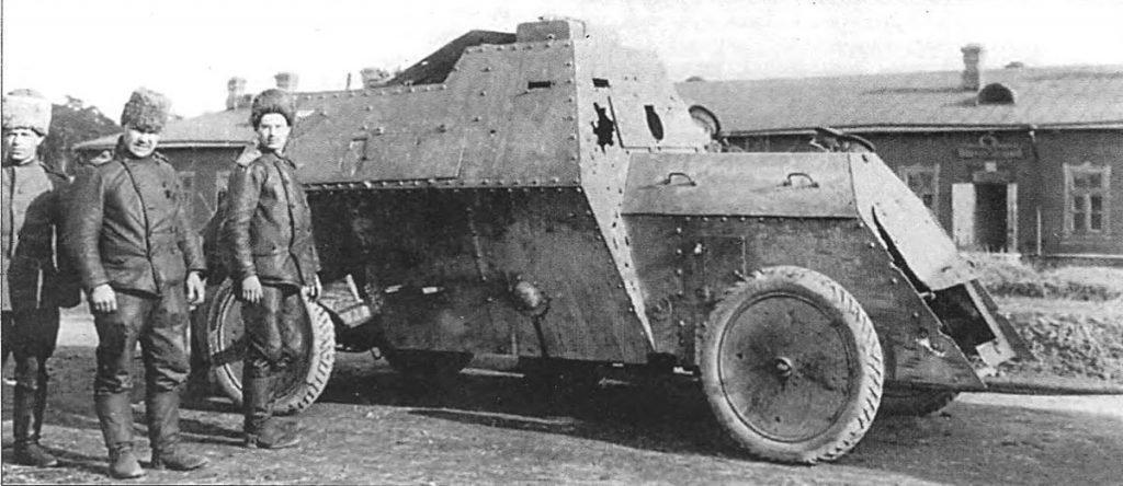 первая мировая война Russo-Balt_type_C_damaged_in_battle