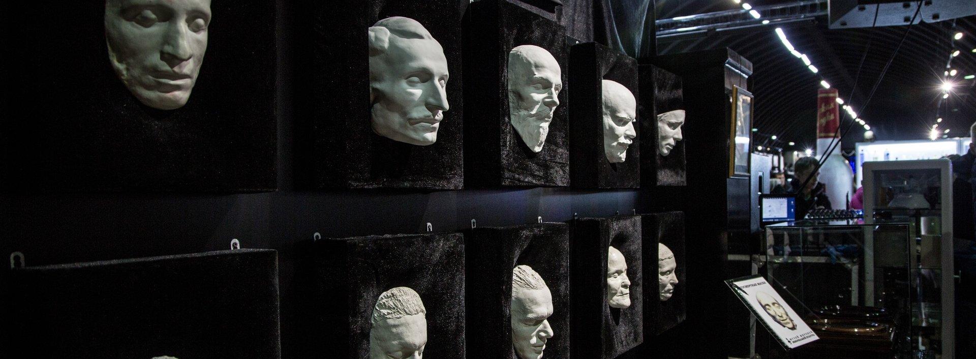 Посмертные маски известных личностей
