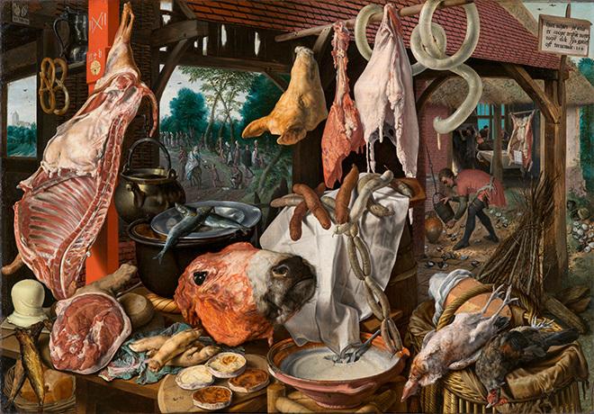 Питер Артсен. Мясная лавка, или Кухня со сценой бегства в Египет