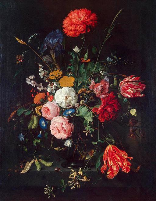 Ян Давидс де Хем. Цветы в вазе.