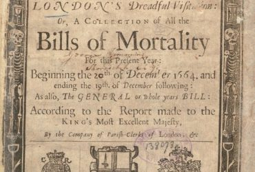 Коллекция актов о смерти во время Великой чумы (1665)